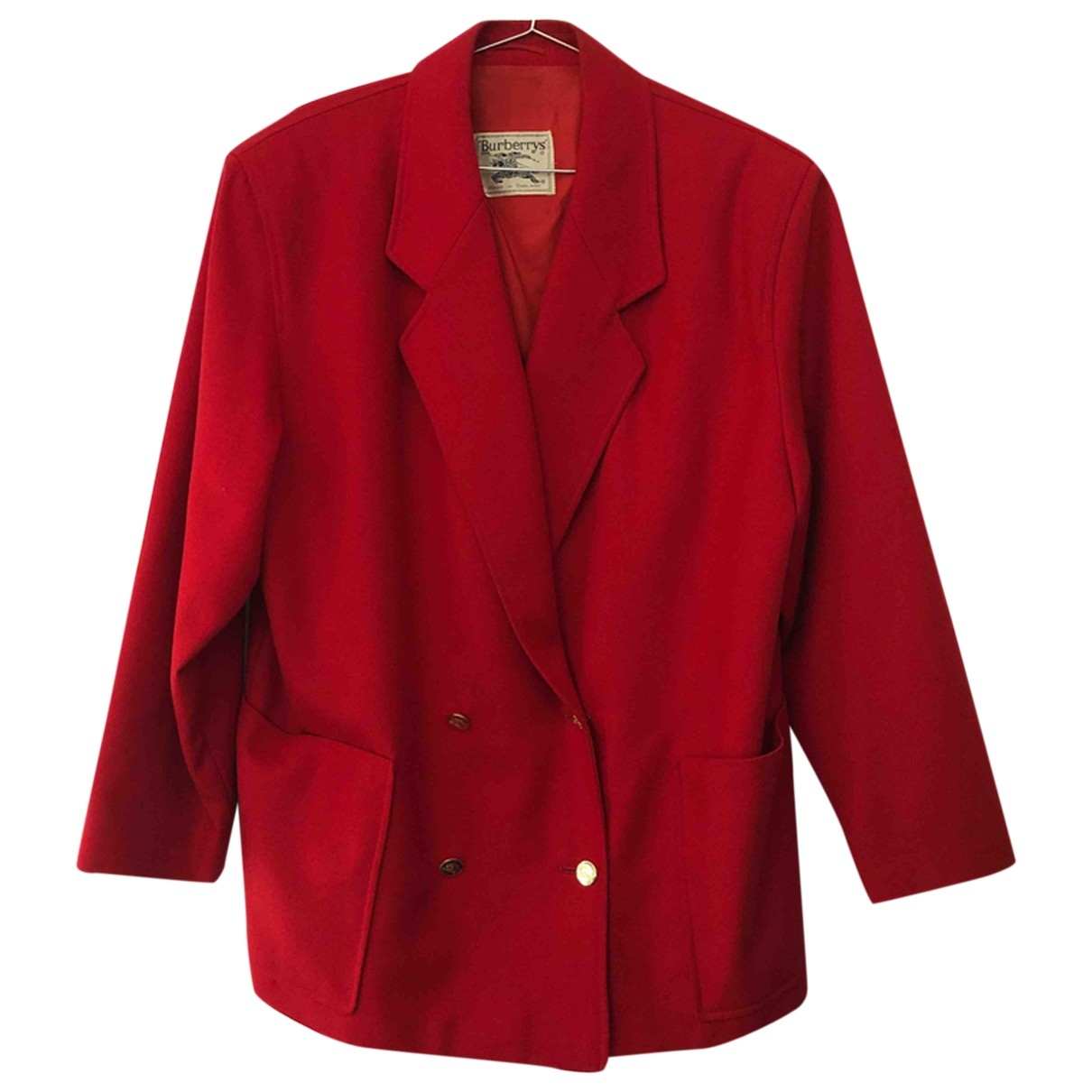 Burberry \N Red Wool jacket for Women 14 UK