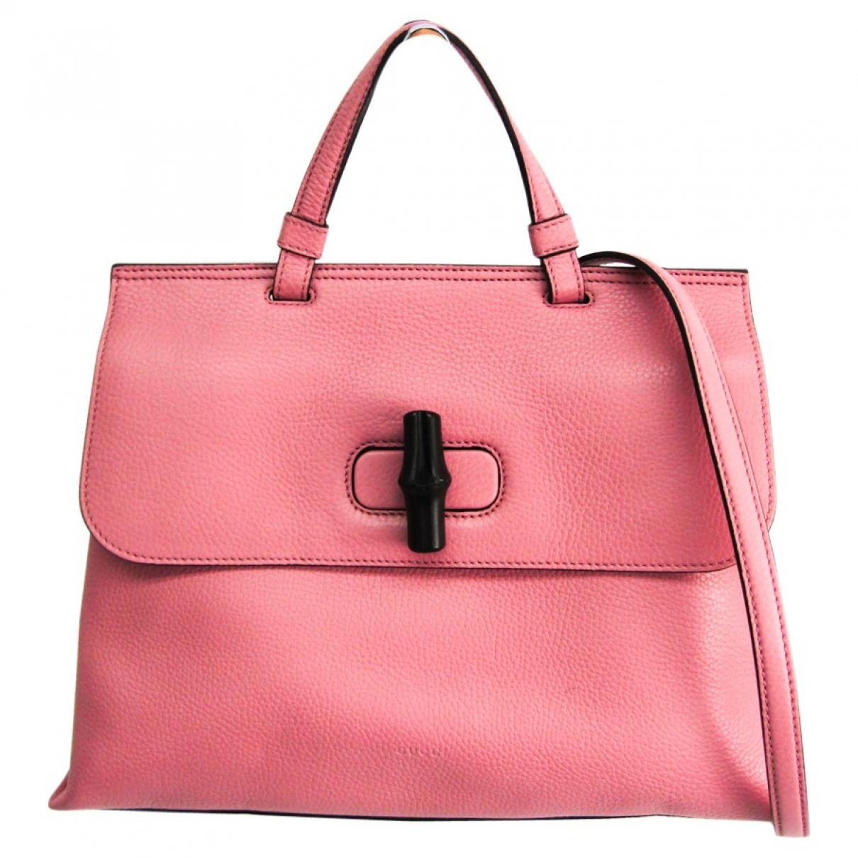 Gucci \N Handtasche in  Rosa Leder