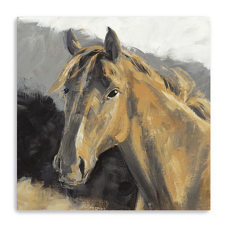 Giddy Up Giclee Canvas Art, One Size , Brown