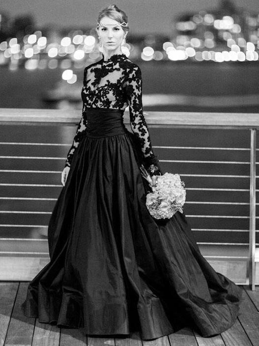 Ericdress A-Line Court Appliques Jewel Evening Dress