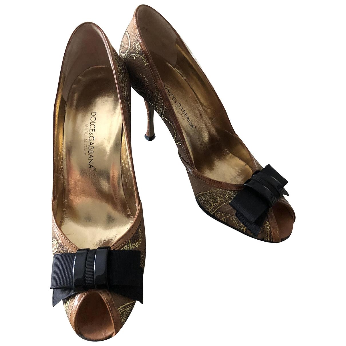 Dolce & Gabbana \N Camel Cloth Heels for Women 36.5 IT