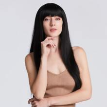 1pc Natural Long Straight Hair Wig With Bang