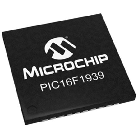 Microchip PIC16F1939-I/MV, 8bit PIC Microcontroller, PIC16F, 32MHz, 28 kB Flash, 40-Pin UQFN (5)
