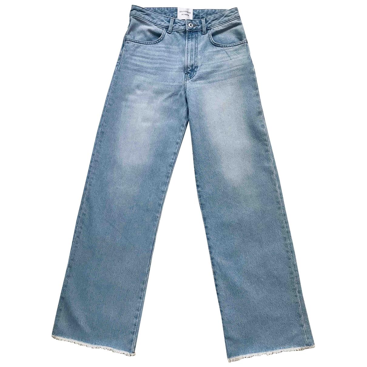 Les Coyotes De Paris \N Blue Denim - Jeans Trousers for Women 34 FR