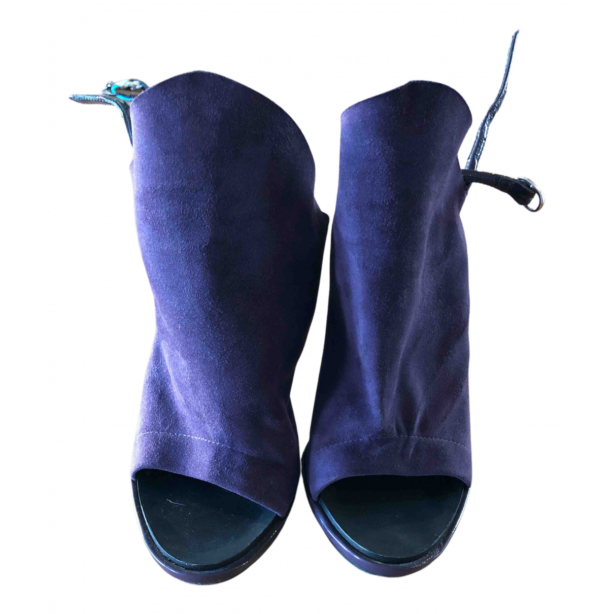 Balenciaga - Escarpins   pour femme en suede - violet