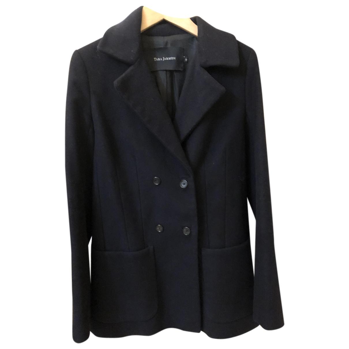 Tara Jarmon N Navy Wool coat for Women 34 FR