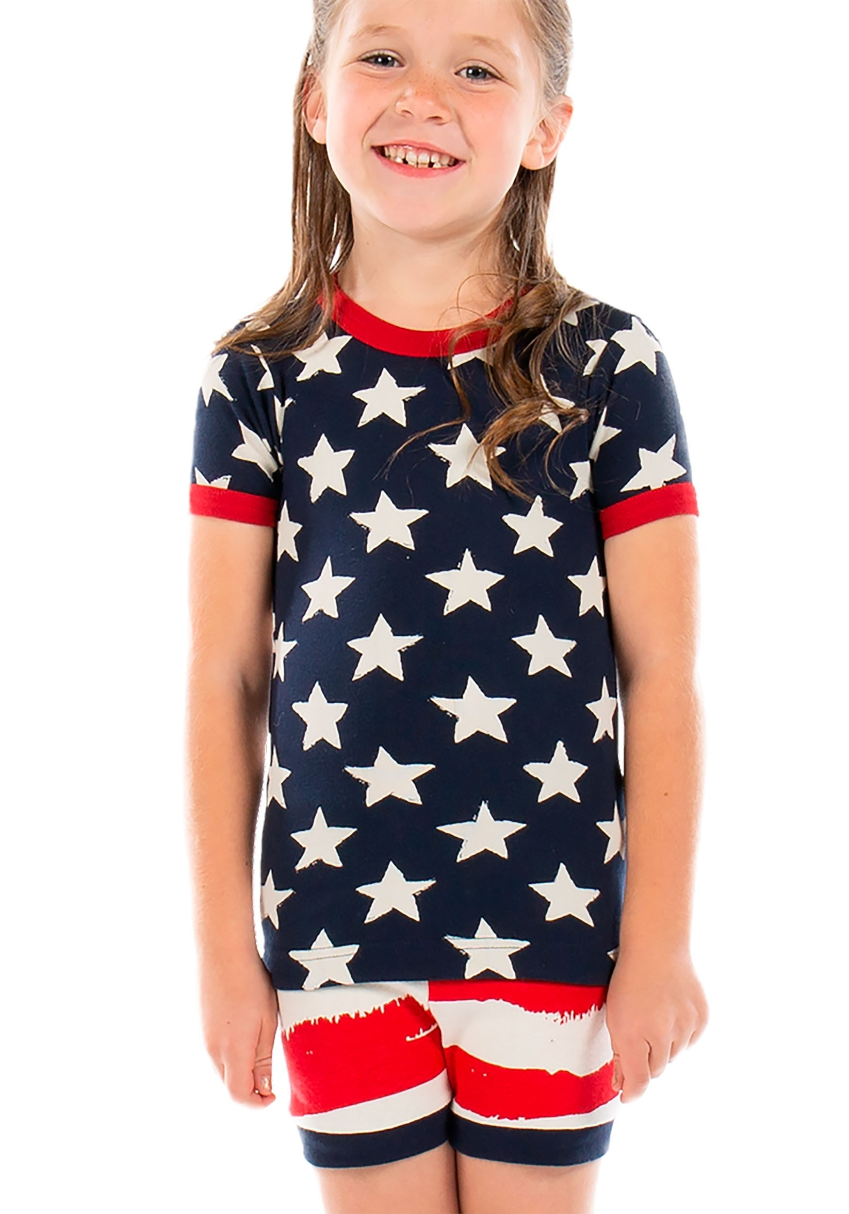 Kids 4th of July Star & Stripes PJ Short Set