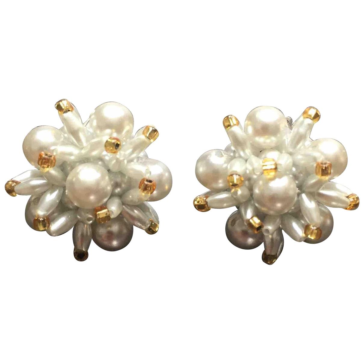 Vintage 55 \N OhrRing in  Grau Perlen