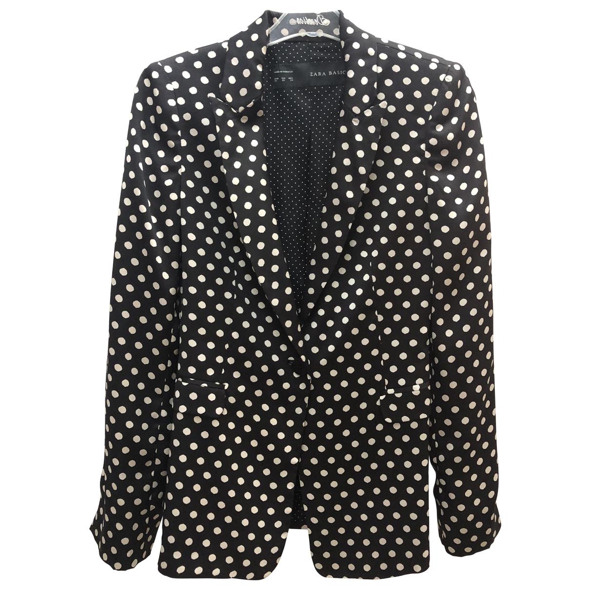 Chaqueta en Poliester Negro Zara