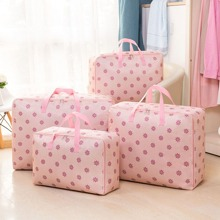 1pc Flower Print Quilt Storage Bag