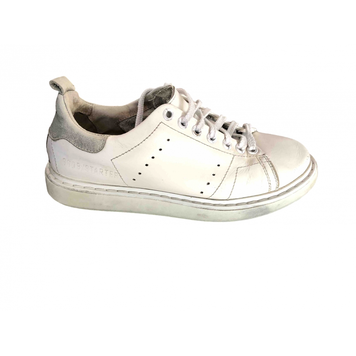 Golden Goose Starter White Leather Trainers for Women 37 EU