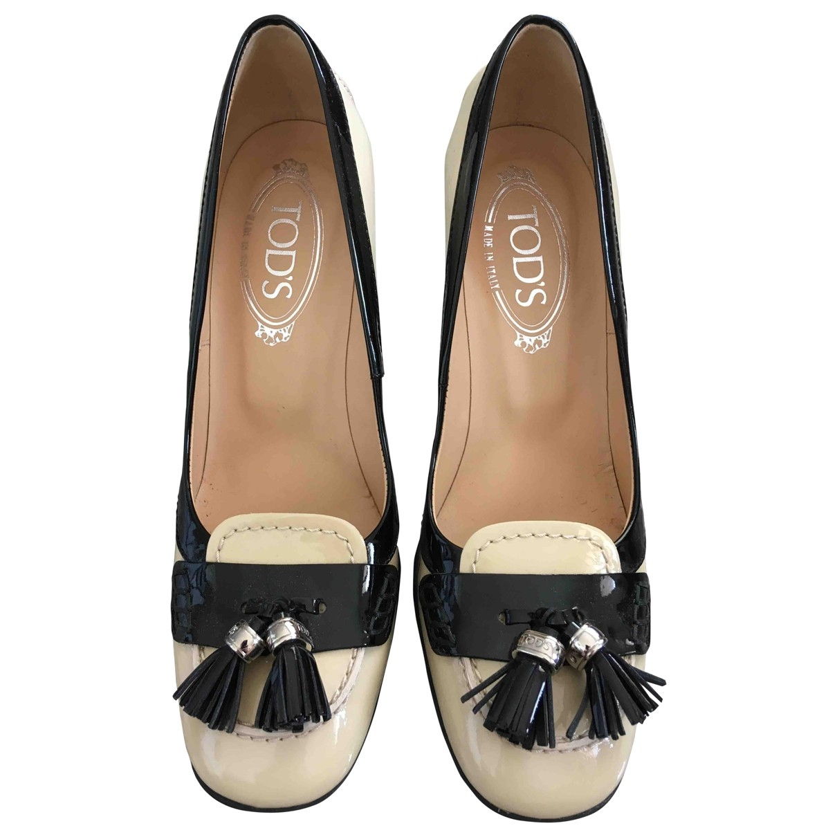 Tod's \N Beige Patent leather Heels for Women 37 EU