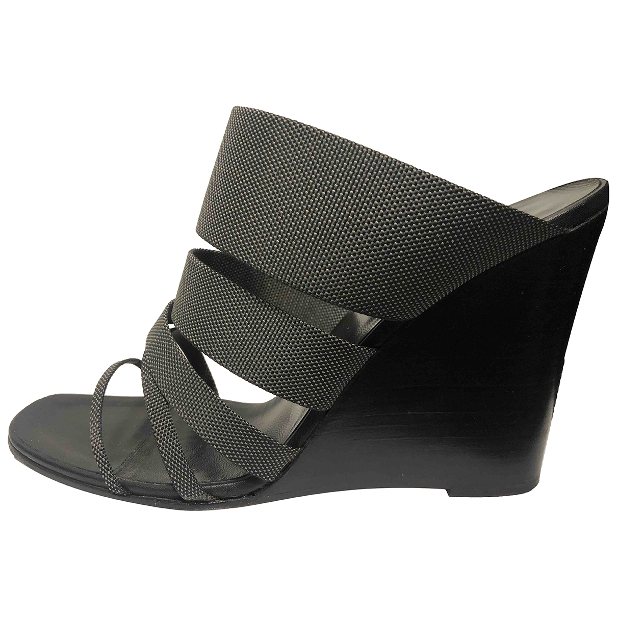 Hermès \N Grey Cloth Sandals for Women 39 EU