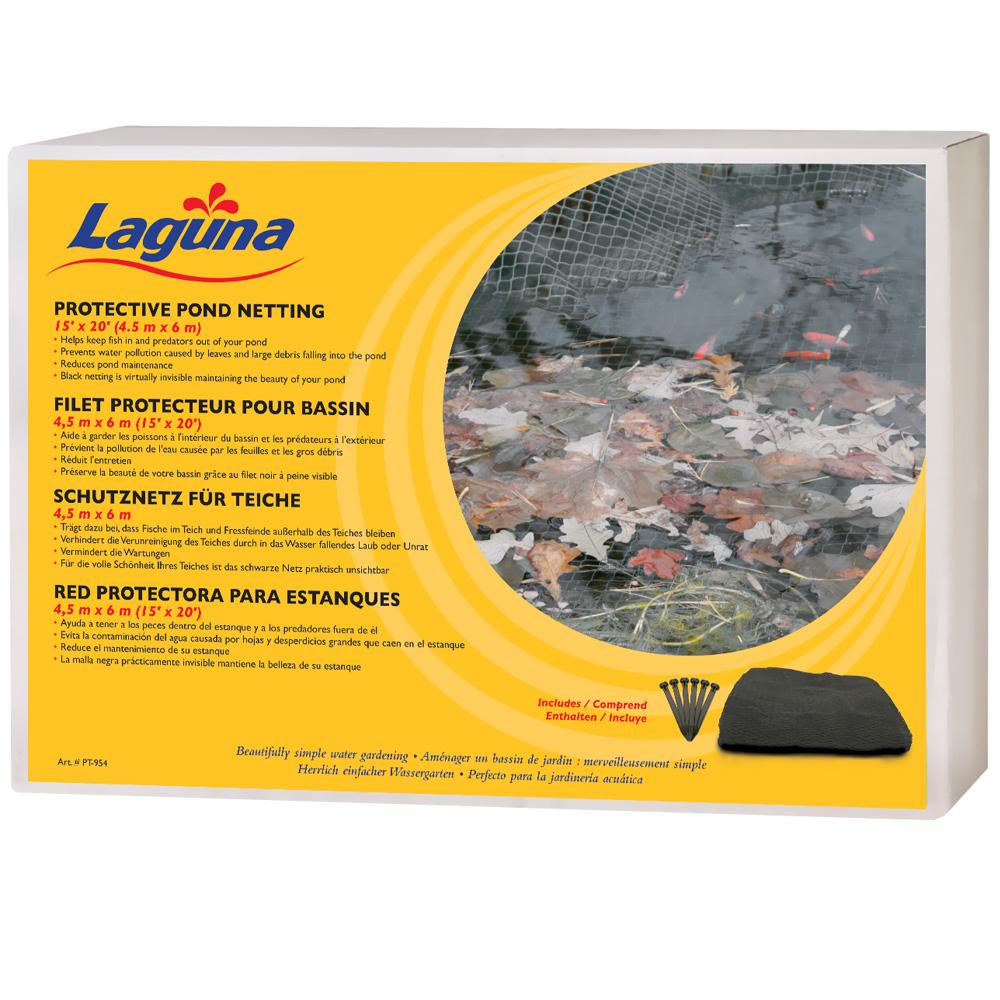 Laguna Pond Netting with stakes (15 x20) - Black