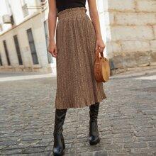 Paperbag Waist Leopard Skirt