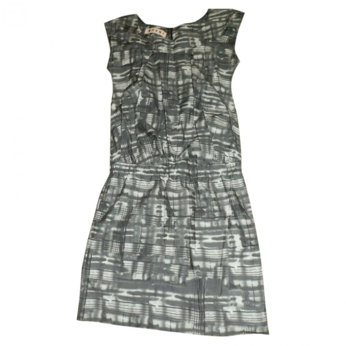 Marni \N Kleid in  Grau Baumwolle