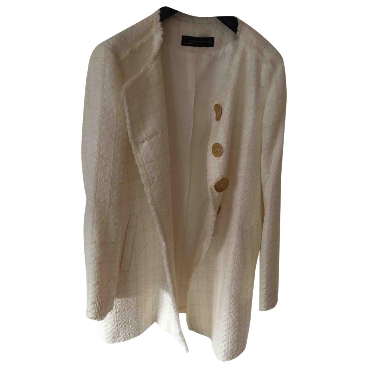 Zara \N White coat for Women 46 IT