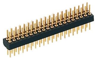 Preci-Dip , 14 Way, 2 Row, Straight PCB Header Pin (5)