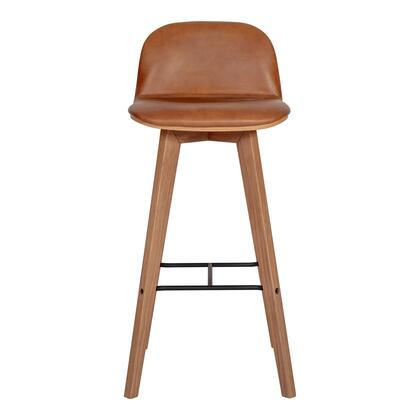 Napoli Collection YC-1022-40 Bar Stool with Solid Oak and Metal Frame in Brown