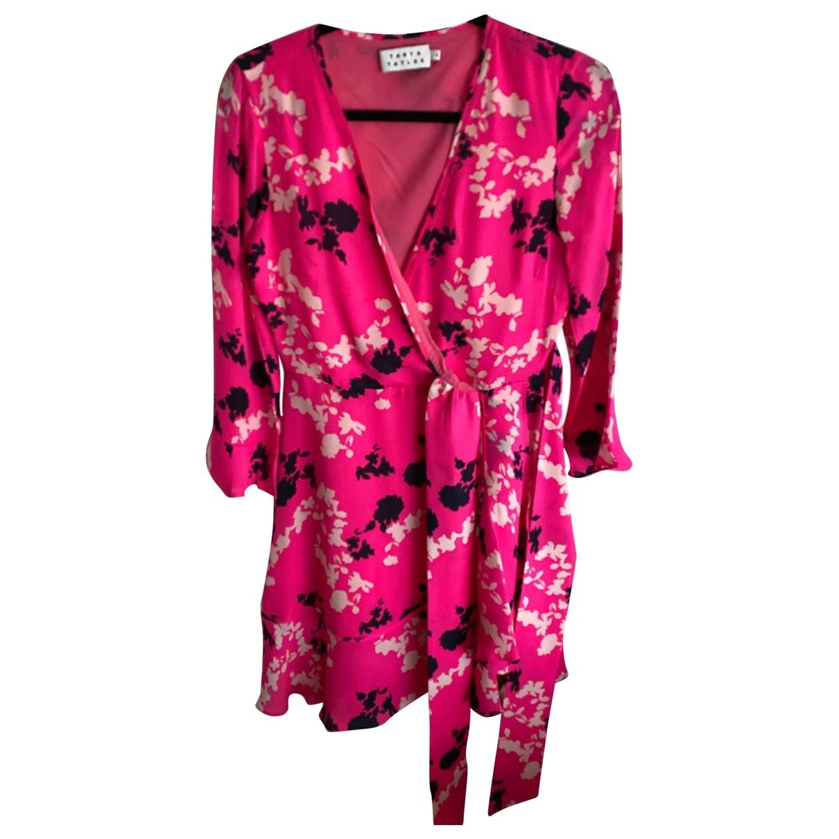 Tanya Taylor \N Kleid in  Rosa Seide