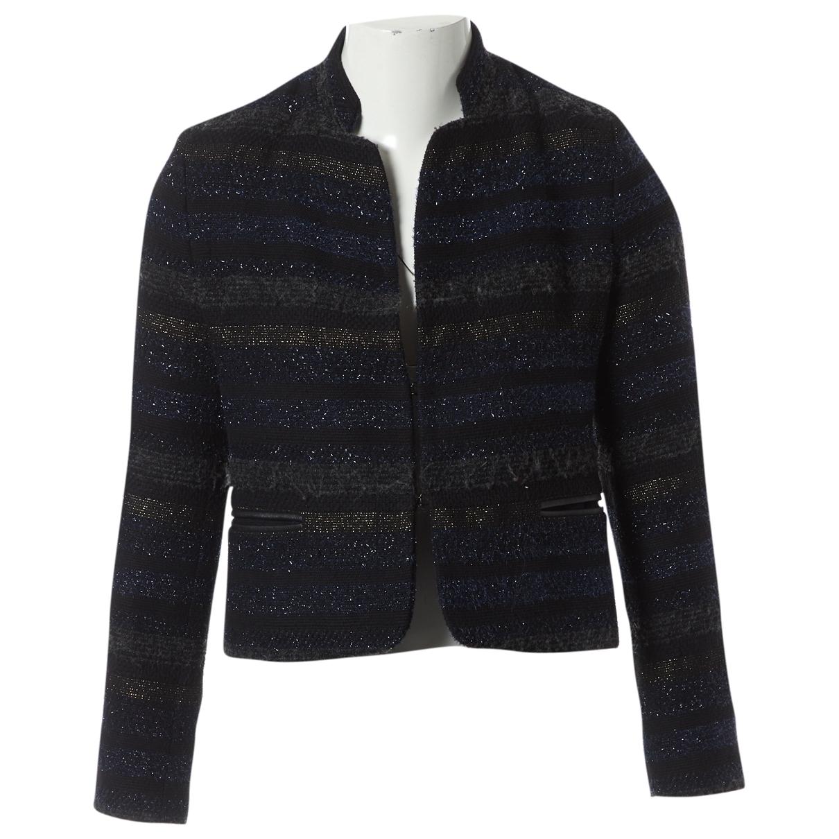 Sandro - Veste   pour femme en coton - noir