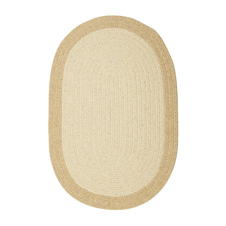 Colonial Mills Vermont Reversible Braided Oval Rug, One Size , Beige