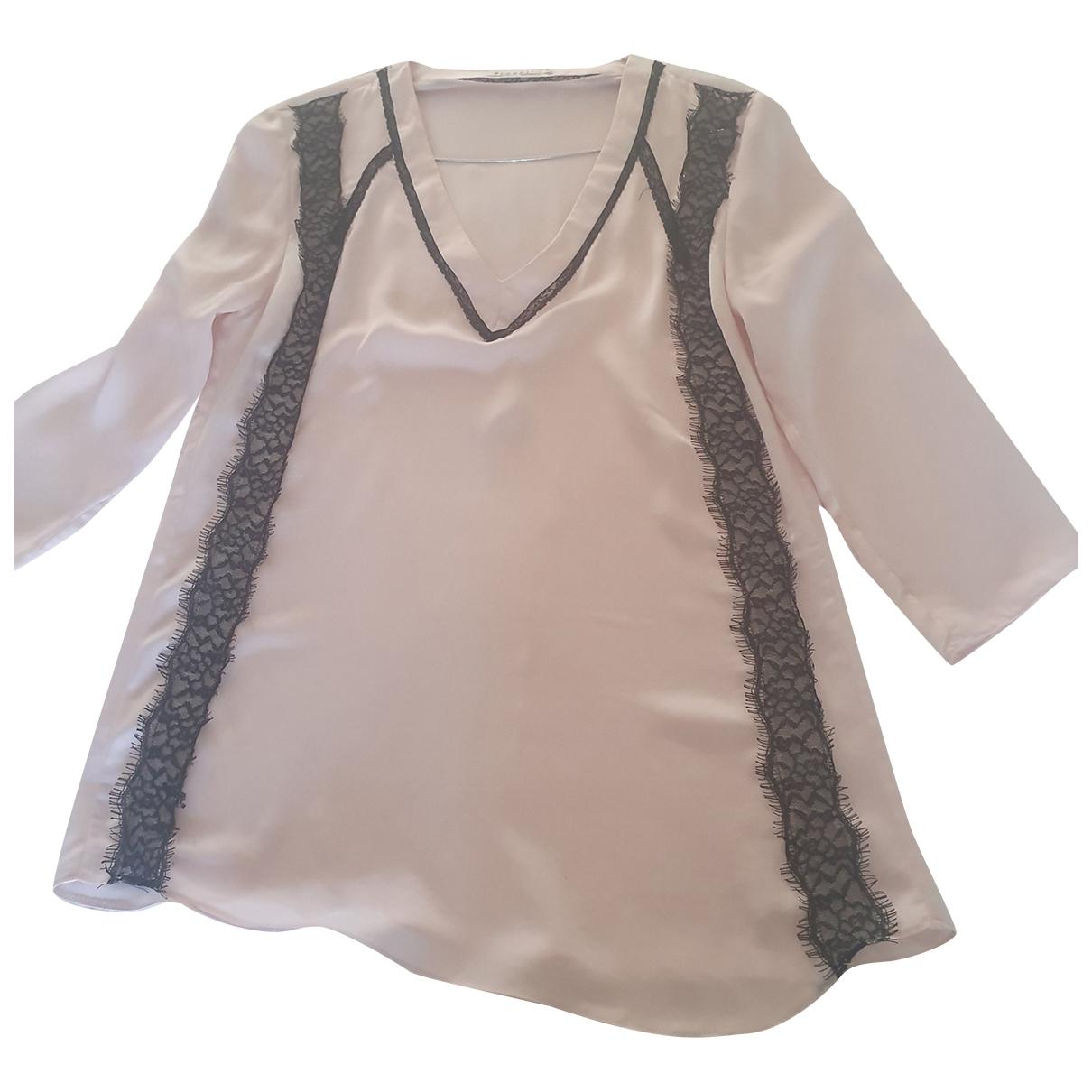 Claudie Pierlot \N Pink Silk  top for Women 38 FR