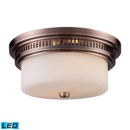66141-2-LED Chadwick 2-Light Flush Mount in Antique Copper -