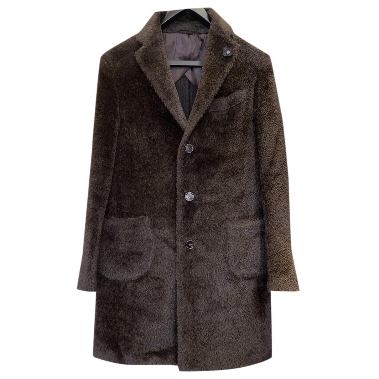 Lardini - Manteau   pour homme en laine - marron