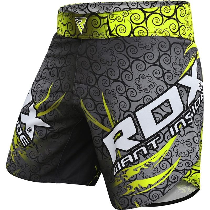 RDX R11 MMA Grappling Shorts Polyester Extra Large Green/Grey/Black