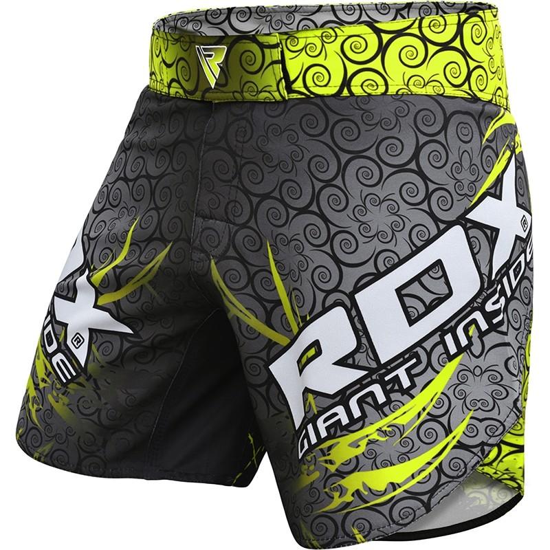 RDX R11 Pantalones Cortos de MMA Poliester Verde Extra Grande