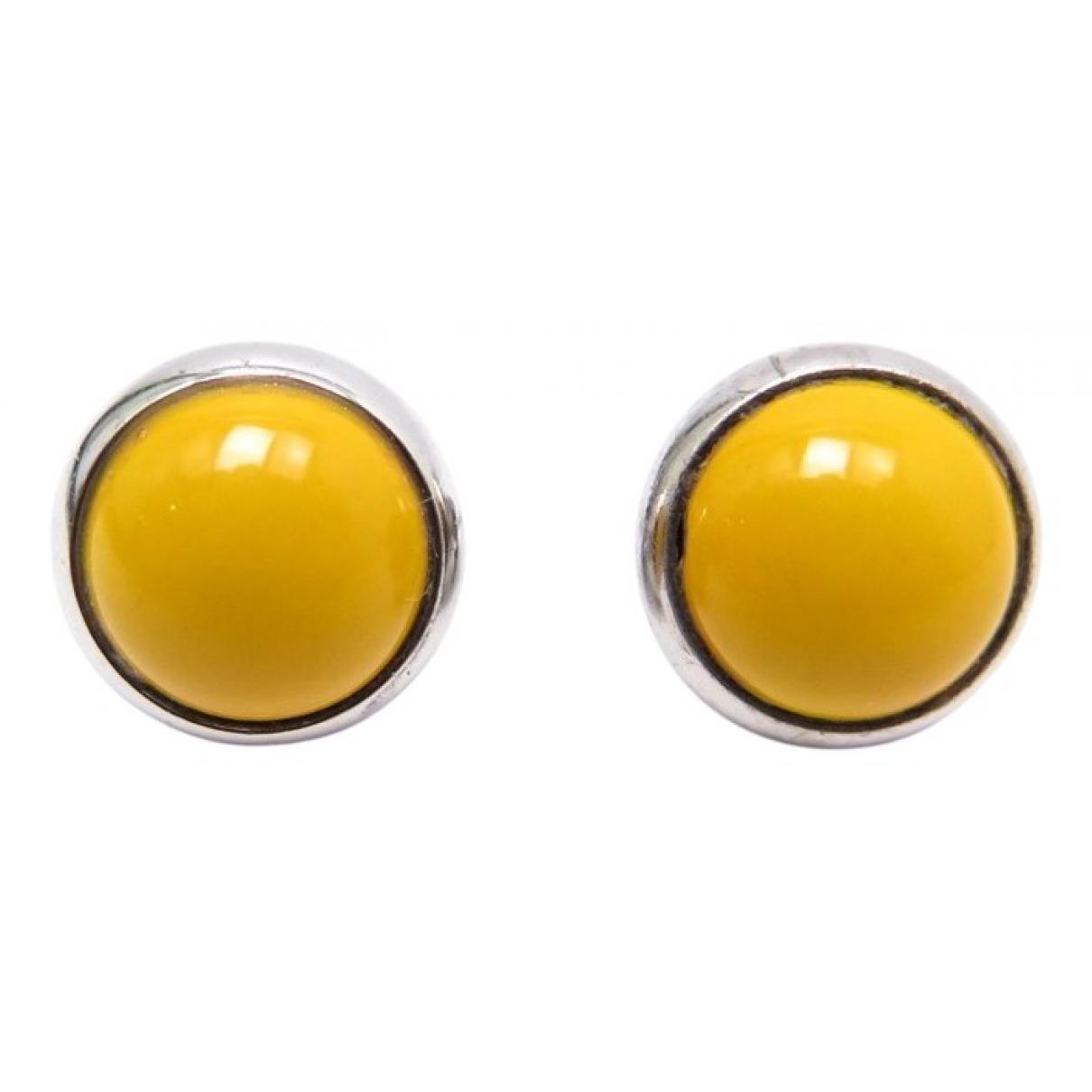 Hermes \N OhrRing in  Gelb Metall