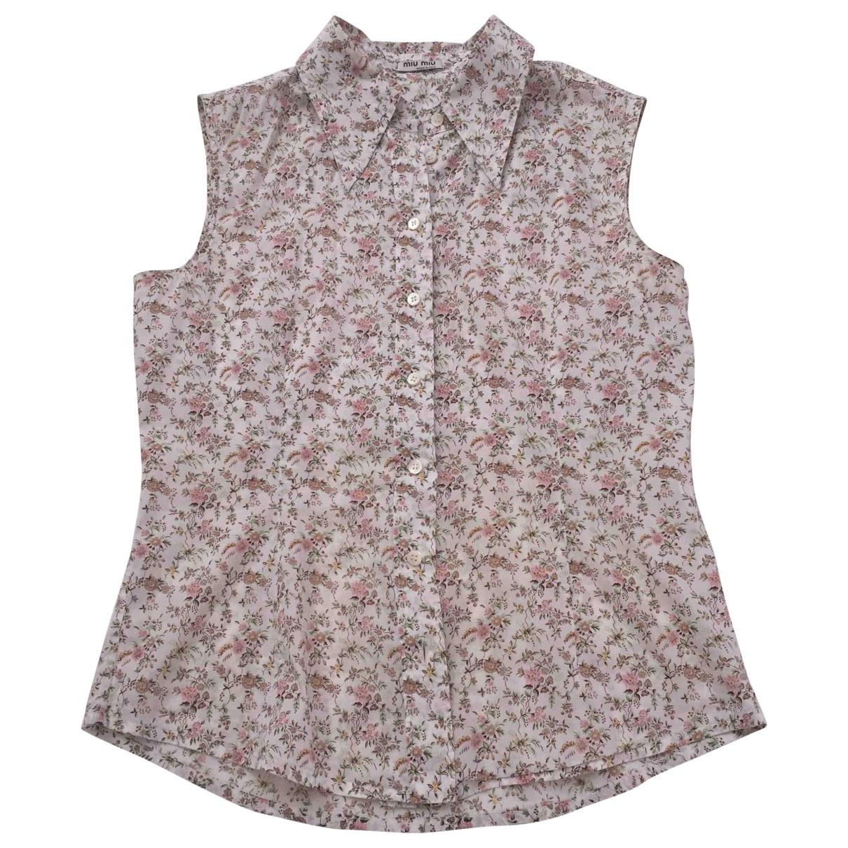Miu Miu \N Multicolour Cotton  top for Women 42 IT