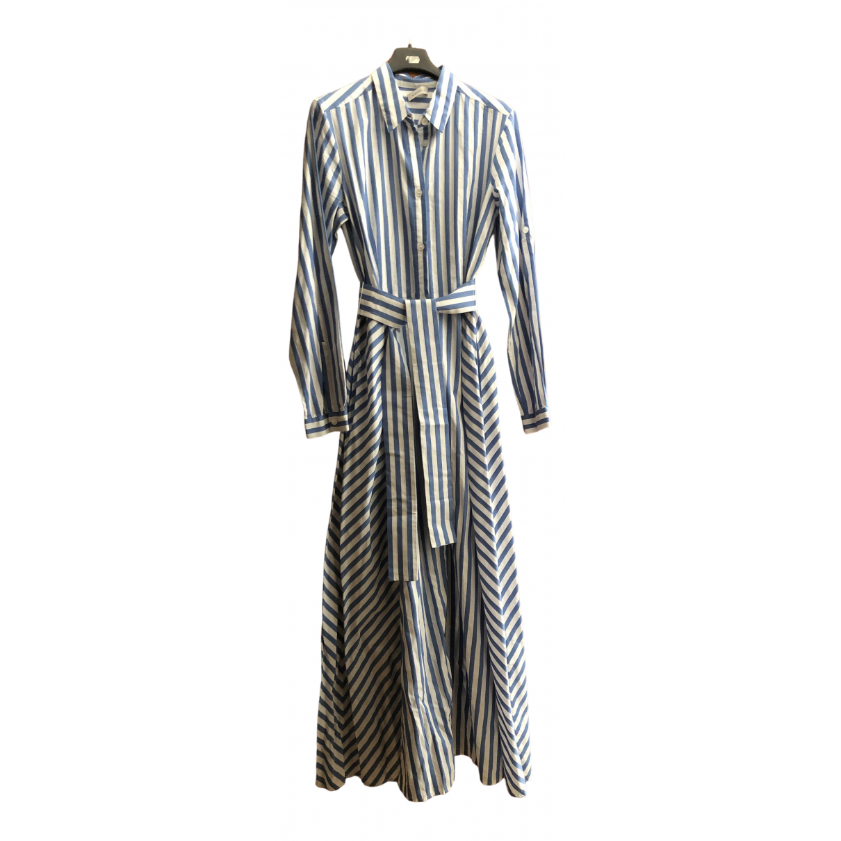 Marella \N Blue Cotton dress for Women 42 IT