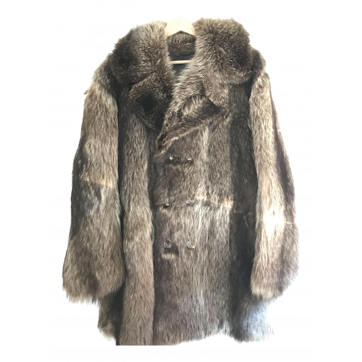 - Manteau   pour homme en fourrure - marron