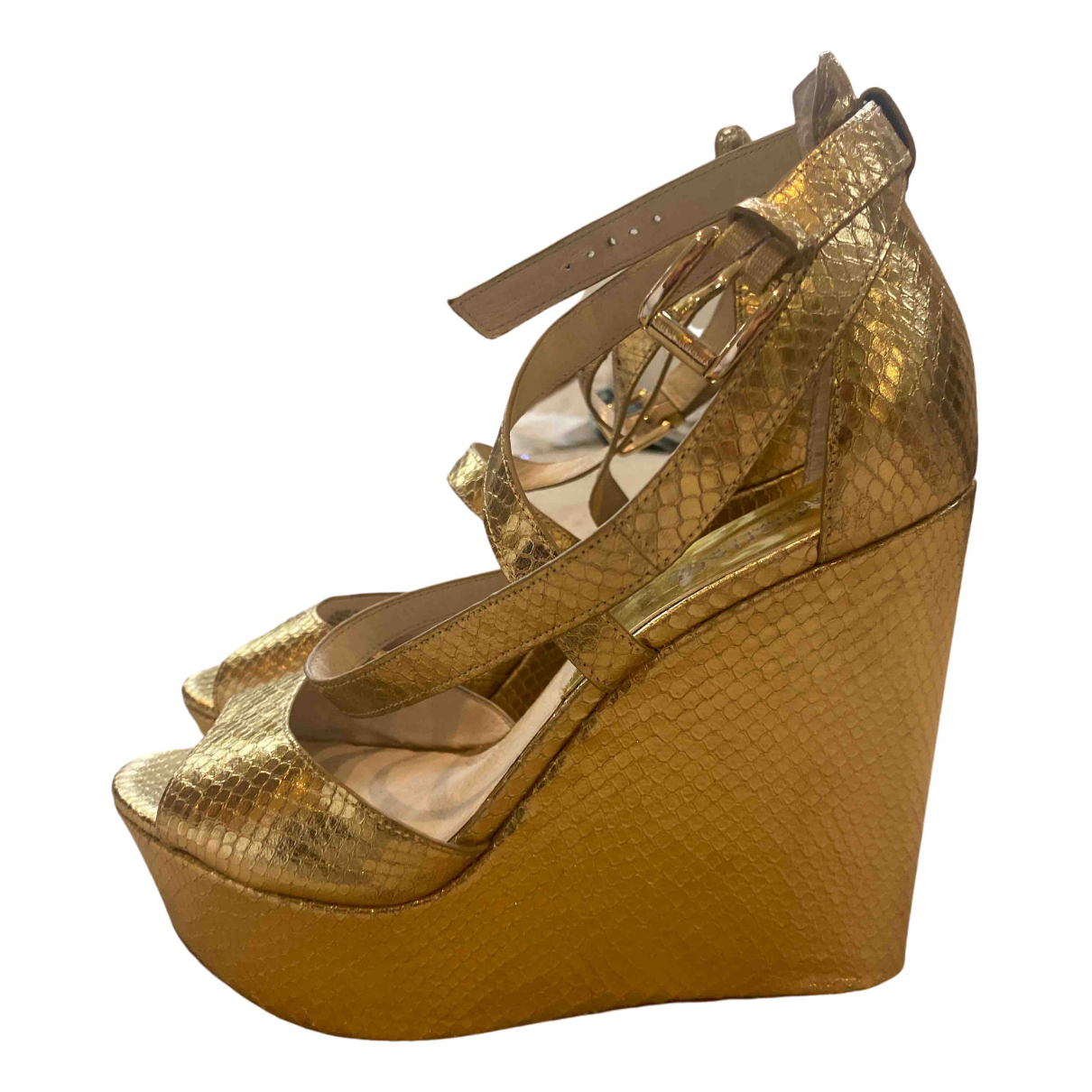 Michael Kors \N Gold Patent leather Heels for Women 7 UK