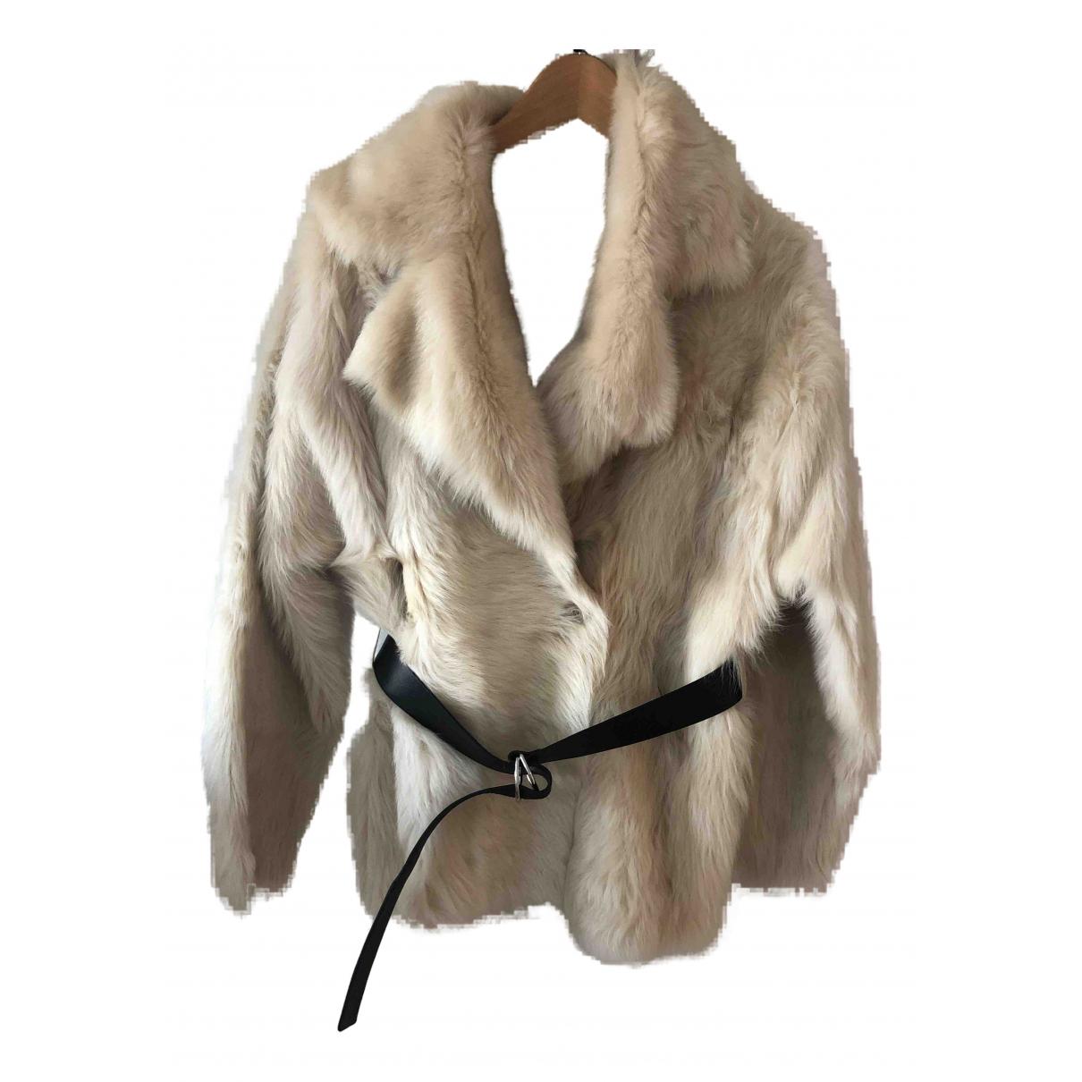 Iro N Beige Mongolian Lamb jacket for Women 34 FR