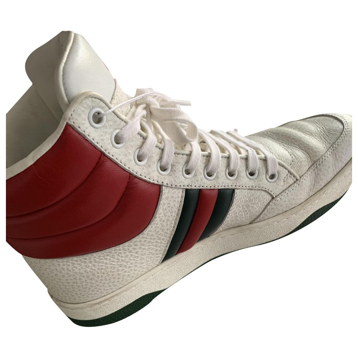 Gucci Gucci Dapper Dan White Leather Trainers for Women 38.5 EU