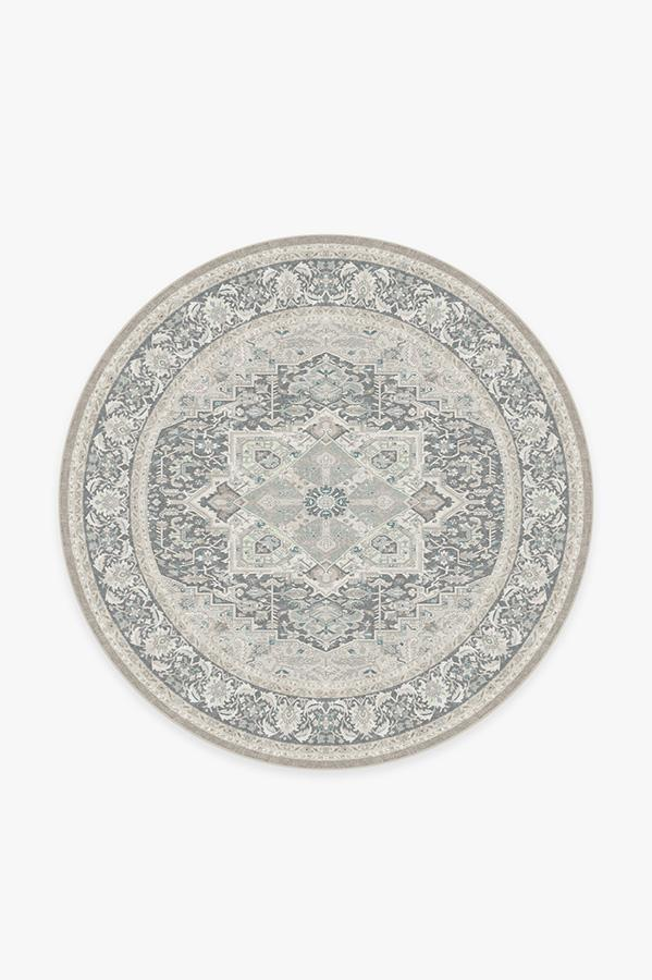 Washable Rug Cover | Hendesi Heriz Abalone Rug | Stain-Resistant | Ruggable | 6' Round