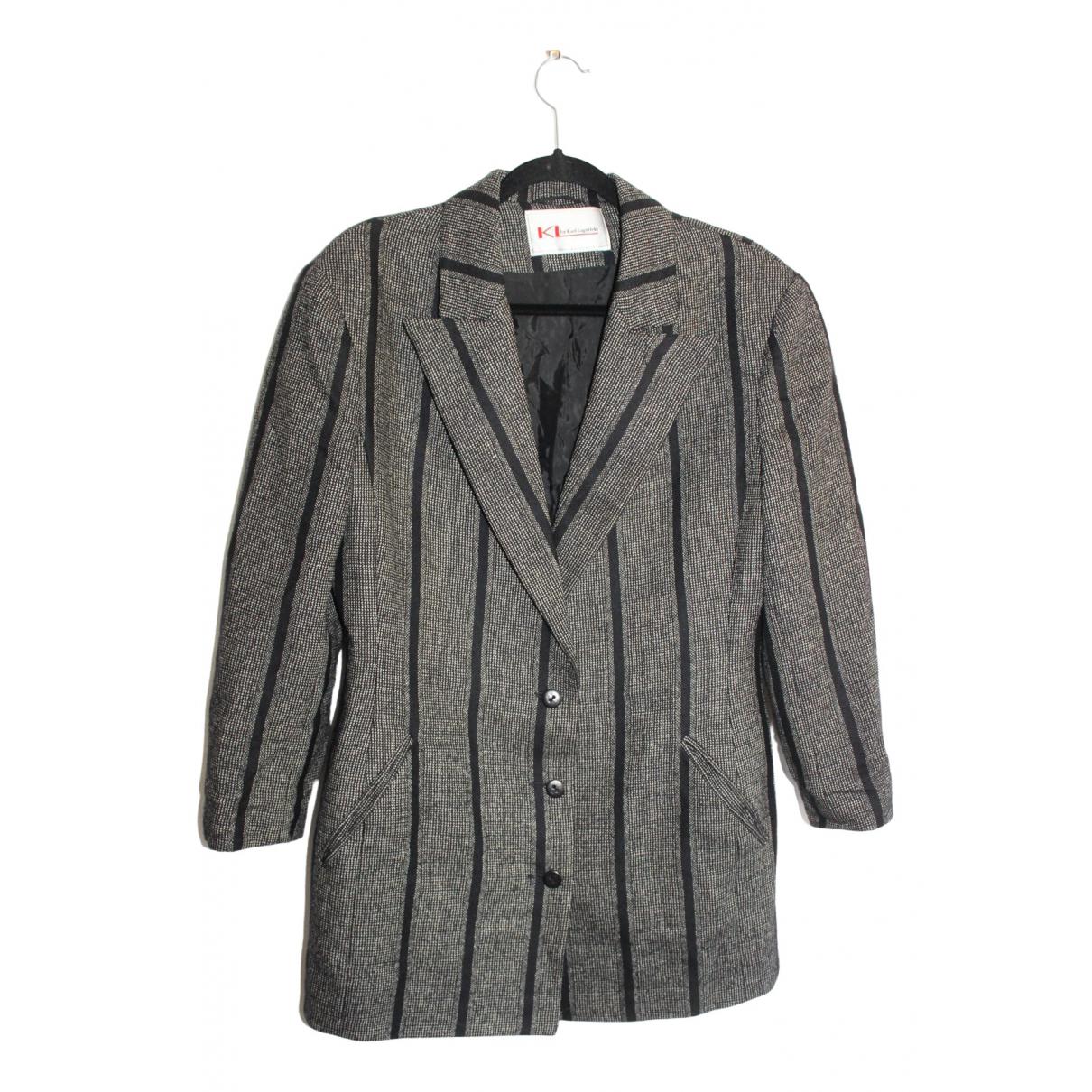 Karl Lagerfeld \N Black Wool jacket for Women 40 FR