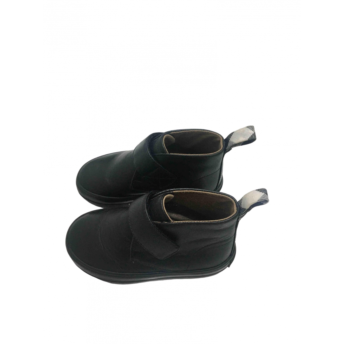 Burberry \N Black Leather Slippers for Kids 23 EU