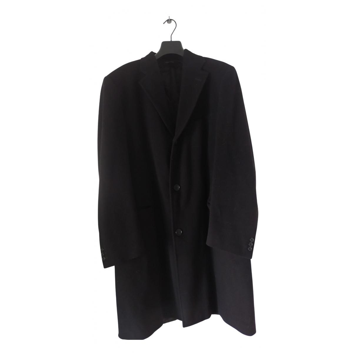 Loro Piana - Manteau   pour homme en laine - noir