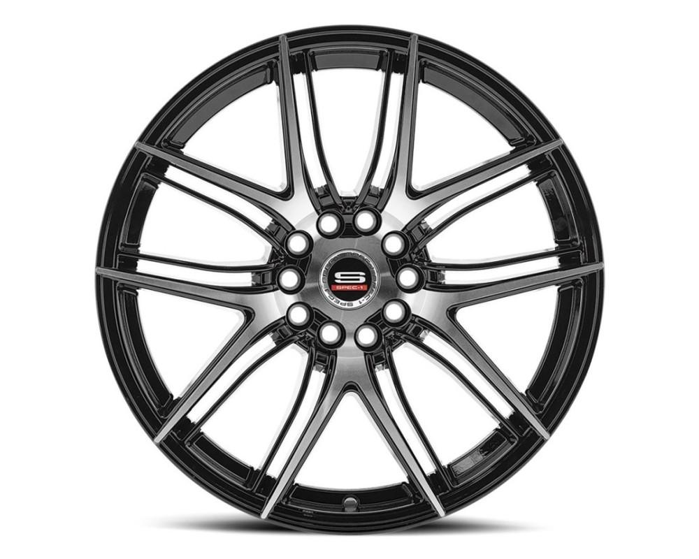 Spec-1 SP-56 Wheel Racing Series 18x8 4x100|4x114.3 38mm Gloss Black Machined