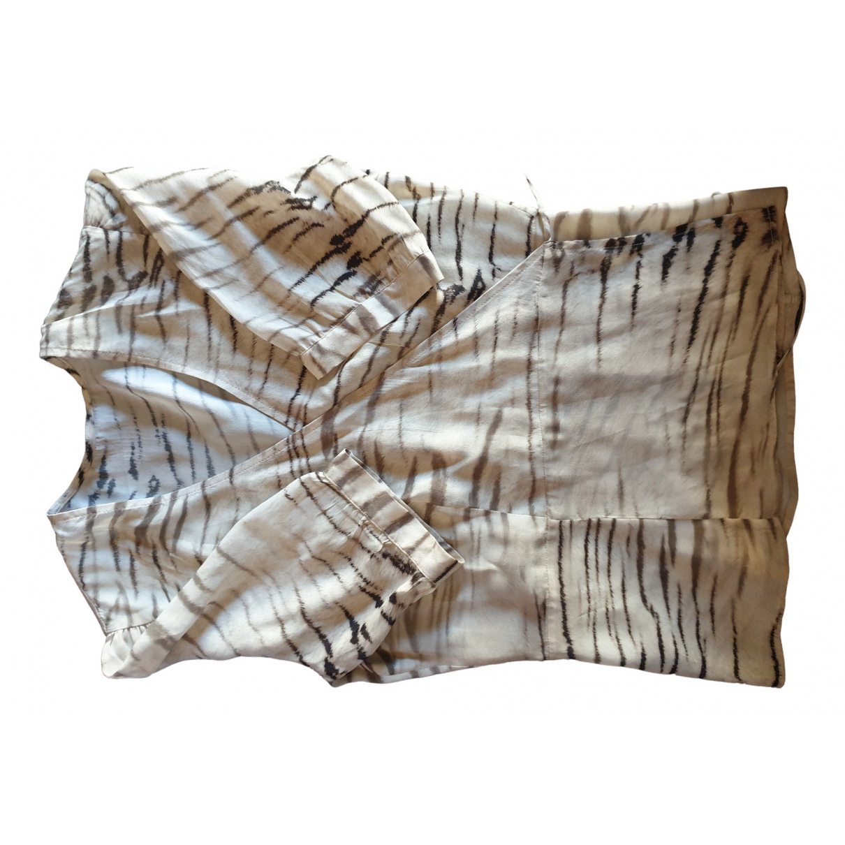 Zapa - Top   pour femme en soie - beige