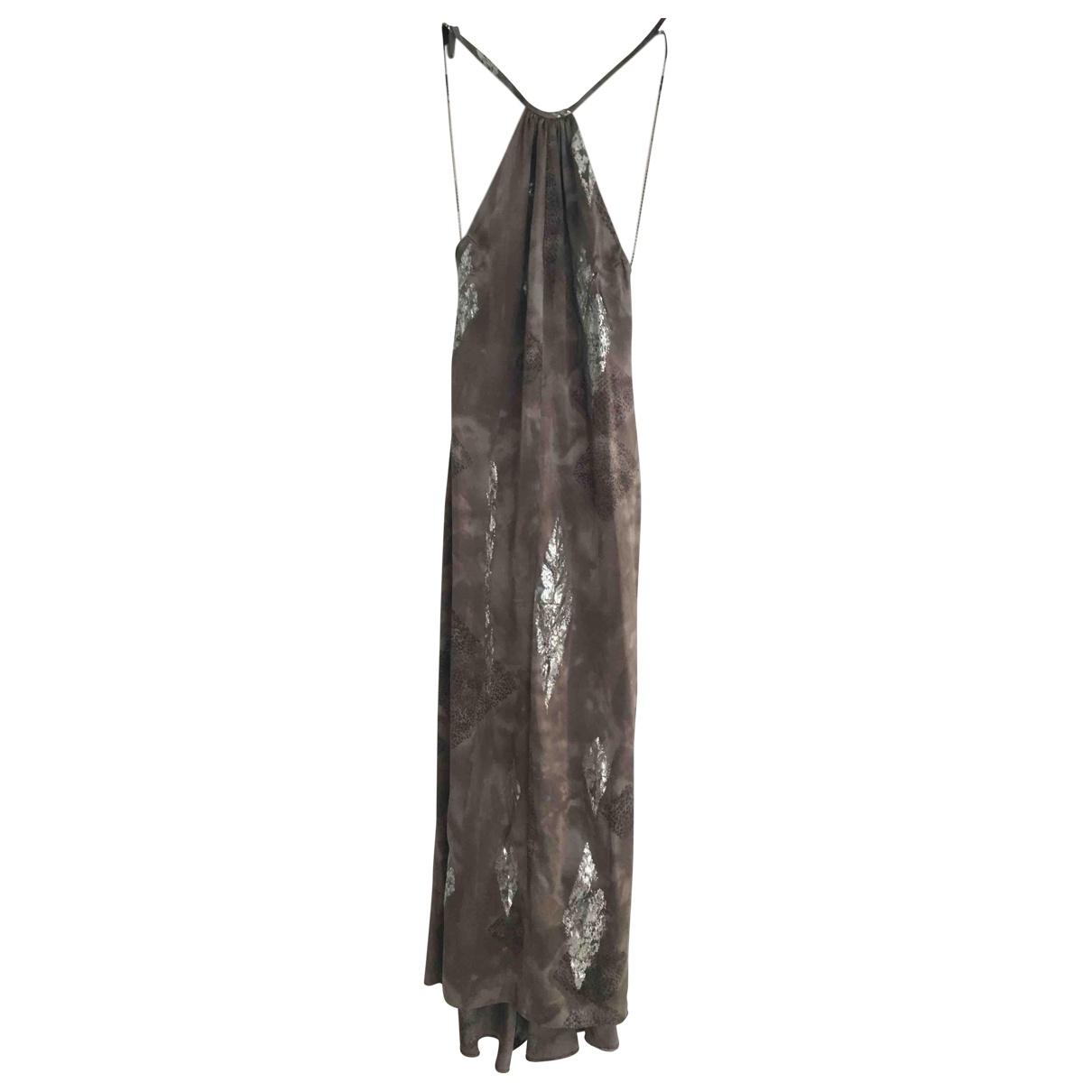 Max Mara \N Kleid in  Grau Seide