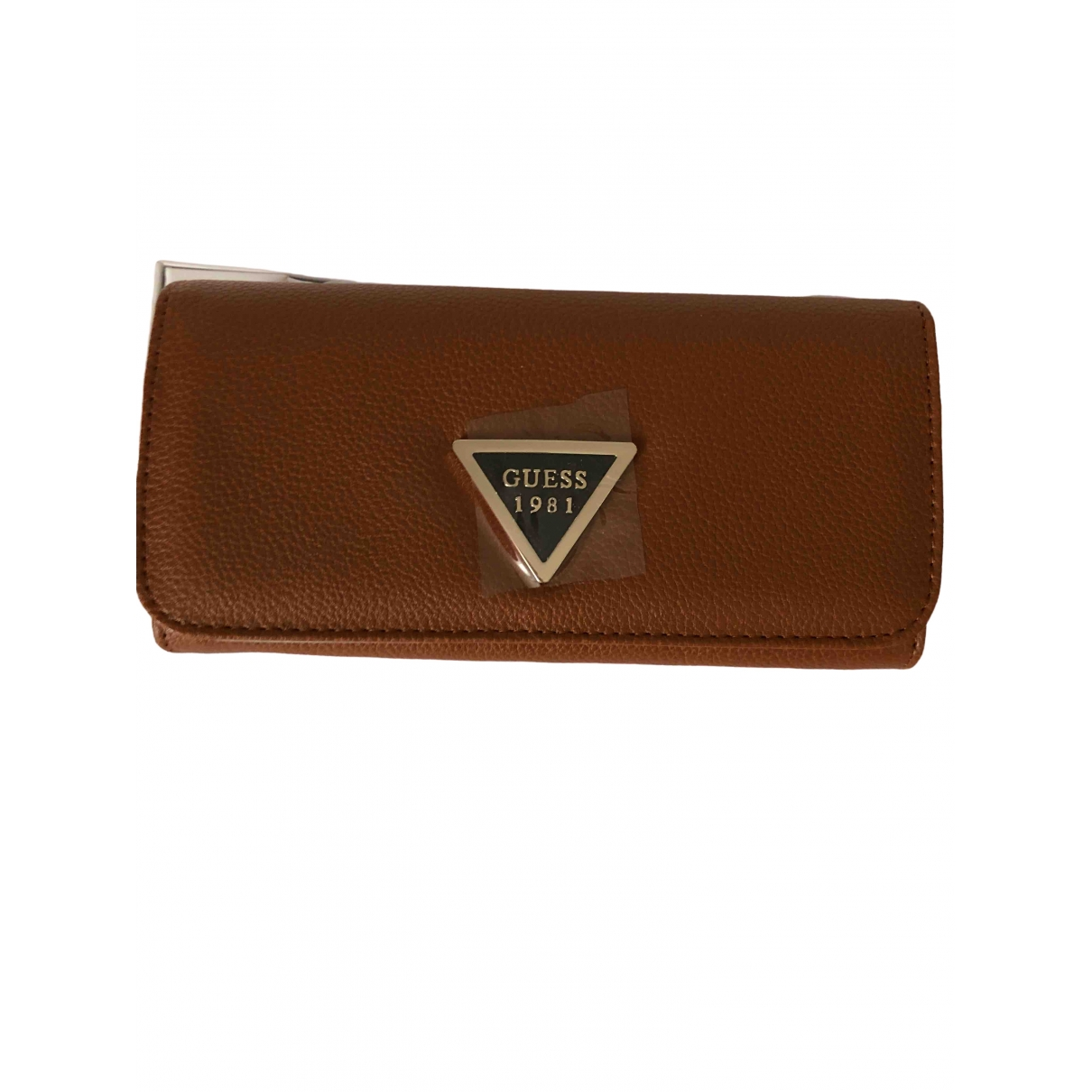 Guess \N Brown Leather wallet for Women \N