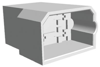 TE Connectivity FASTIN-FASTON .250 Series, 4 Way Nylon Crimp Cover, 0.25in Tab Size, Natural (10)