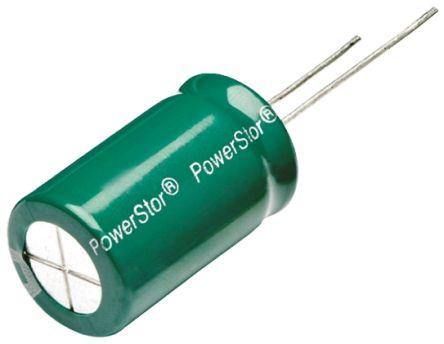Eaton Bussmann Series 60F Supercapacitor EDLC -10 → +30% Tolerance, Supercap HV 2.7V dc, Through Hole