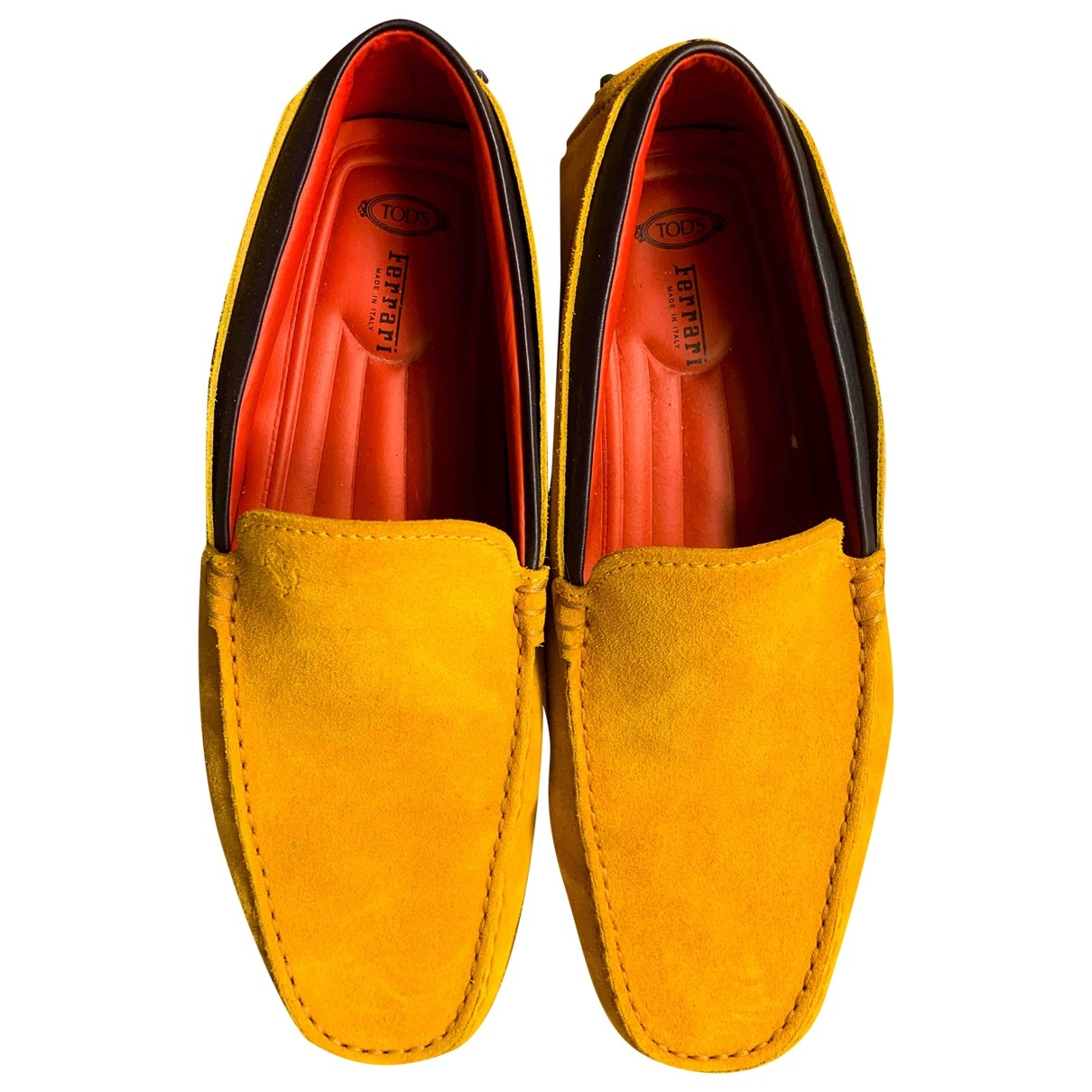 Tod's \N Yellow Suede Flats for Men 6 US