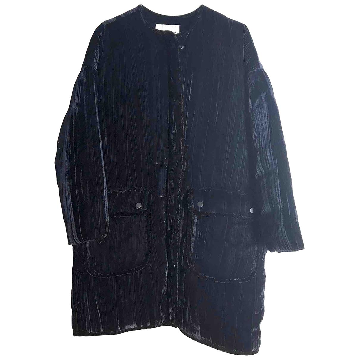 Bimba Y Lola \N Navy Velvet coat for Women M International
